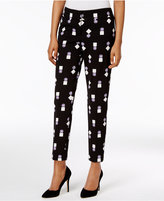 Nine West Geo-Print Trousers
