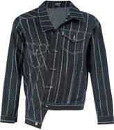 Andrea Crews striped denim jacket