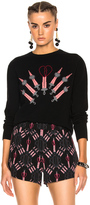 Valentino Heart Embroidered Sweater