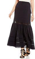 M.S.S.P. Textured Cotton Maxi Skirt