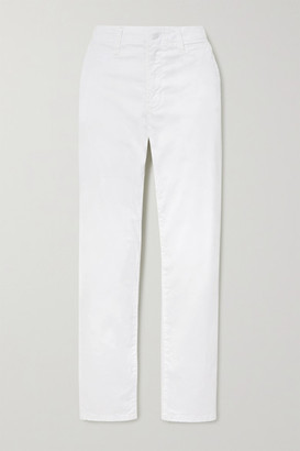 J Brand Ollie Cotton-blend Twill Pants - White