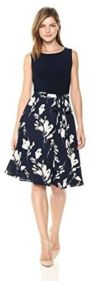 Nine West Women's Midi Length Dress with Tie at Waist