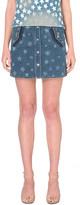 Valentino star print denim skirt