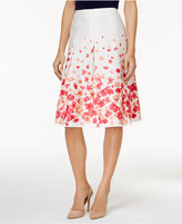 Charter Club Cotton Floral-Print A-Line Skirt, Only at Macy's