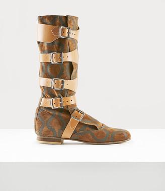 Vivienne Westwood Pirate Boot Squiggle Tan/Brown