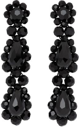 Simone Rocha Black Short Drop Earrings