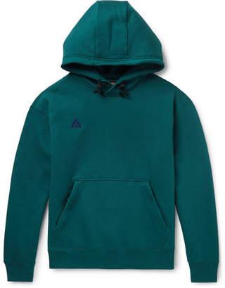 Nike Acg Nrg Logo-Embroidered Fleece-Back Cotton-Blend Jersey Hoodie