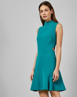 Ted Baker Cut Out Fluted Shift Dress