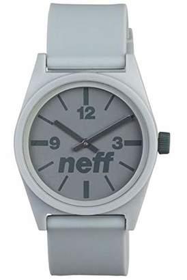 Neff Men's NF0201-grey Custom Designed and PU Strap Grey Watch