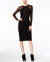Catherine Malandrino Jacinta Mesh-Sleeve Sheath Dress