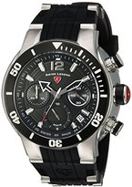 Swiss Legend Men's 'Sharkarma' Quartz Stainless Steel and Silicone Casual Watch, Color:Black (Model: 14084SM-01-BB)
