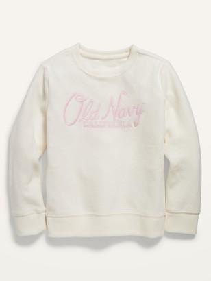 Old Navy Logo-Graphic Micro Performance Fleece Sweatshirt for Girls