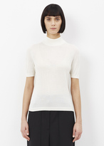 Jil Sander natura short sleeve turtleneck sweater