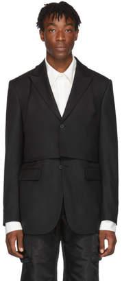 D.gnak By Kang.d Black Detachable Vest Blazer