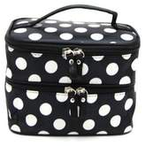 "Coromose Lady""s Wave Dot Case Makeup Double Cosmetic Hand Bag Black"