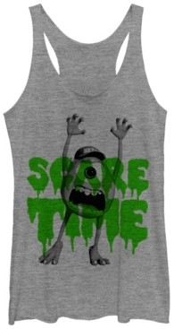 Fifth Sun Disney Pixar Women's Monsters Inc. Mike Scare Time Tri-Blend Tank Top