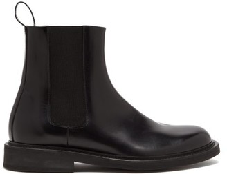 Bottega Veneta Leather Chelsea Boots - Black