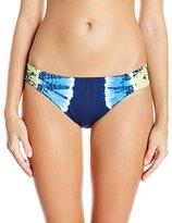 Lucky Brand Women's Half Moon Tie-Dye Tab Side Hipster Bikini Bottom