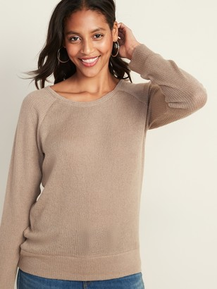 Old Navy Plush Rib-Knit Long-Sleeve Tee for Women