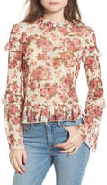 BP Ruffle Floral Lace Top