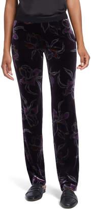 Nic+Zoe Soft Petal Printed Velvet Pants