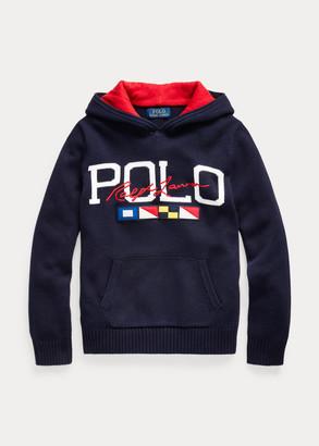 Ralph Lauren Logo Cotton Hooded Sweater