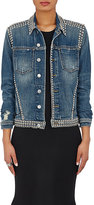 L'Agence Women's Celine Studded Denim Trucker Jacket