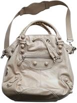 Balenciaga Beige Leather Handbag