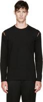 Comme des Garcons Black Jersey Slit Long Sleeve T-Shirt