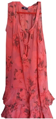 One Step Red Silk Dress for Women Vintage