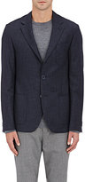 Barneys New York Men's Wool-Silk Mélange Sportcoat-NAVY