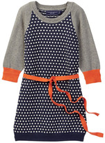Toobydoo Petite Dot Baseball Sleeve Sweater Dress (Toddler, Little Girls, & Big Girls)