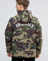 Jack and Jones Hooded Camo Parka with Back Print