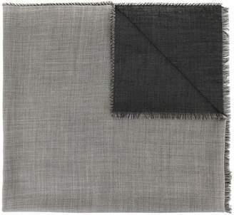 Durban D'urban frayed two-tone scarf