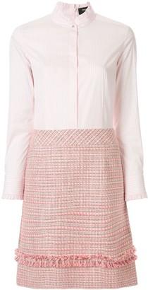 Paule Ka long sleeve tweed shirt dress
