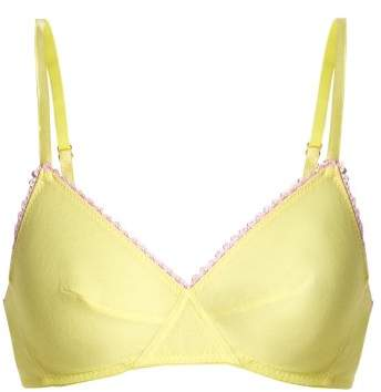 Araks - Antonia Cotton Jersey Triangle Bra - Womens - Yellow