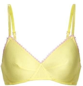 Araks Antonia Cotton Jersey Triangle Bra - Womens - Yellow