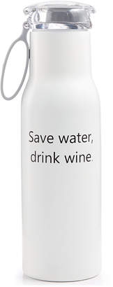 The Cellar 18-Oz. Stainless Steel Double-Walled Decal 2 White Tumbler