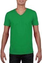 Gildan Mens Soft Style V-Neck Short Sleeve T-Shirt (S)