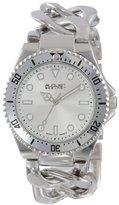 August Steiner Women's AS8079SS Swiss Diver Silver-Tone Twist Chain Bracelet Watch