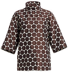 Akris Punto Women's Oversized Dot Mockneck Jacket