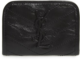 Saint Laurent Niki Quilted Leather Wallet
