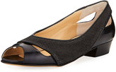 Amalfi by Rangoni Impero Cutout Peep-Toe Flat, Black Pattern
