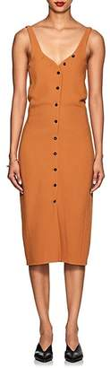 Narciso Rodriguez Women's Button-Front Virgin Wool Midi-Dress - Clay