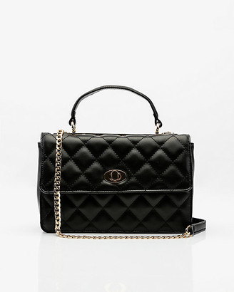 Le Château Faux Leather Quilted Crossbody Bag