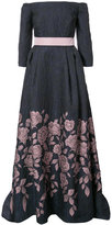 Carolina Herrera off-the-shoulder floral gown