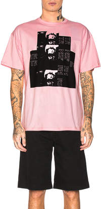 Raf Simons Big Fit Toya Graphic Tee in Light Pink | FWRD