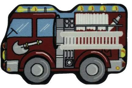 Fun Rugs LA Rug Fire Engine Kids Rugs