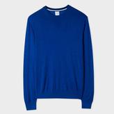 Paul Smith Men's Blue Merino-Silk Blend Sweater