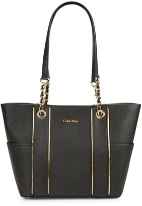 Calvin Klein Key Item Saffiano Leather Tote